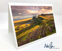 Greeting Card - Trotternish from Quiraing, Skye