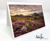Greeting Card - Purple heather from Quiraing, Skye