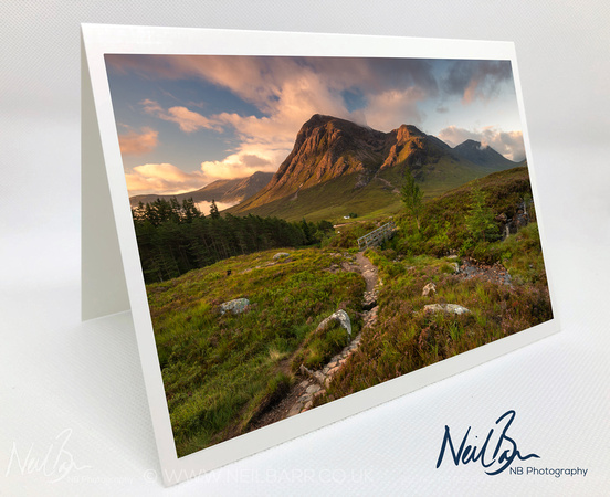 Greeting Card - Bùachaille Etive Mòr from West Highland Way