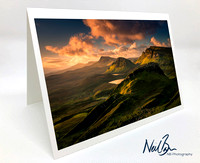 Greeting Card - Dawn view from the Quiraing