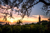 Sunset over Kelvingrove